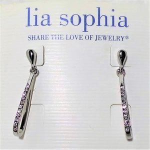 New Lia Sophia Rhinestone drop earrings